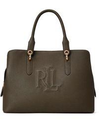 Lauren by Ralph Lauren Hayward Green Leather Handbag