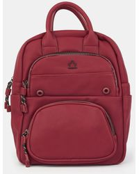 Caminatta - Burgundy Backpack With Outer Pockets - Lyst