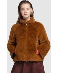 Zendra El Corte Inglés - El Corte Inglés Zendra Reversible Brown Coat - Lyst
