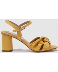 3a0b3b32a46b Gloria Ortiz - Mustard High-heel Sandals With Knot Decoration - Lyst