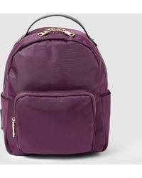 El Corte Inglés Purple Nylon Backpack With Zip