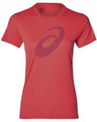 Asics Silver T-shirt - Red
