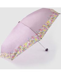 Caminatta Paraguas Mini Plegable Con Borde De Estampado Floral - Multicolor