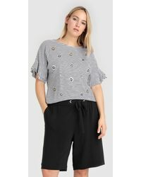 Couchel - Plus Size Loose-fitting Bermuda Shorts With Stretch Waist - Lyst