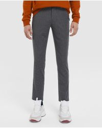 Green Coast - Slim-fit Black Checked Semi-formal Trousers - Lyst