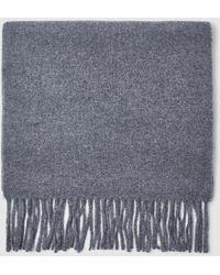 GANT - Mens Plain Light Grey Wool Scarf - Lyst