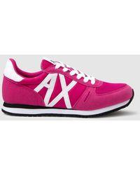 Armani Exchange Fuchsia Sneakers - Pink
