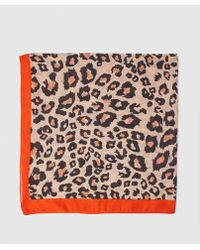 Green Coast - Printed Handkerchief With Contrasting Detail - Lyst