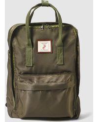 Green Coast - Khaki Nylon Backpack With Brand Patch - Lyst