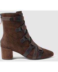 Lola Cruz - Brown Nubuck Ankle Boots - Lyst
