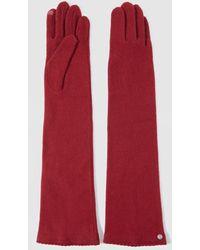 Gloria Ortiz Pauline Long Red Wool Gloves