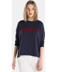 Esprit - Polka Dot Sweatshirt With French Sleeves - Lyst