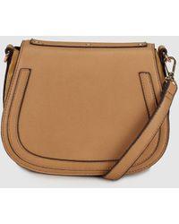 El Corte Inglés - Wo Beige Crossbody Bag With Rivets - Lyst