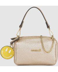 Pepe Moll - Metallic Pink Mini Handbag With Chain Shoulder Strap - Lyst