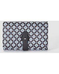 El Corte Inglés - Wo Black Wallet With A Geometric Print And Tab Closure - Lyst