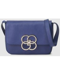 Gloria Ortiz Fiona Eternity Blue Leather Crossbody Bag
