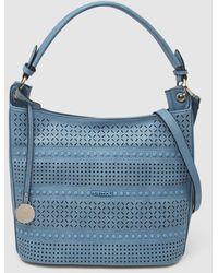 Pepe Moll Pale Blue Cutwork Hobo Bag
