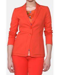 Mirto - Orange Blazer With Maxi Pockets - Lyst