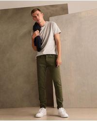 Green Coast Mens Khaki 5-pocket Extra Skinny Trousers - Natural