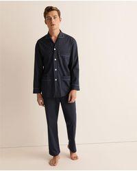 Mirto Pijama Largo De Punto De Hombre Azul
