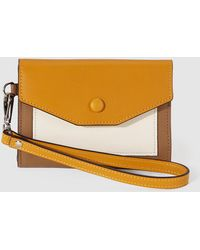 Gloria Ortiz - Sofia Cruise Brown, White And Mustard Leather Wallet - Lyst