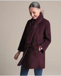 Woman El Corte Inglés - Wo Bouclé Coat And Scarf - Lyst
