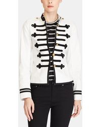 Lauren by Ralph Lauren - White Military-style Jacket - Lyst