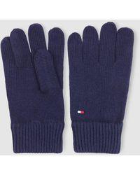 Tommy Hilfiger Mens Basic Navy Blue Knitted Gloves