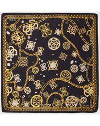 Guess Black Handkerchief With Golden Print