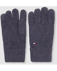 Tommy Hilfiger Mens Basic Gray Knitted Gloves