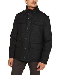 Esprit Mens Black Waxed Three Quarter Coat