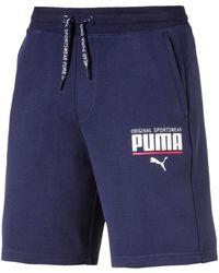 10bca091f2d9 Puma Style Athletic Fab Bermuda Shorts in Gray for Men - Lyst