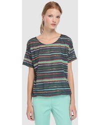 Yera - Short Sleeved Striped T-shirt - Lyst