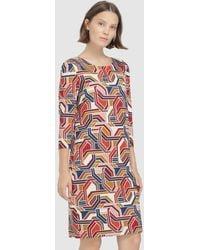 Escolá - Short Geometric-print Dress - Lyst