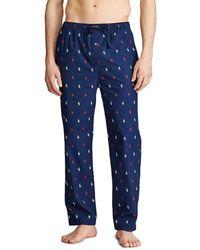 Polo Ralph Lauren Mens Long Blue Pajama Bottoms
