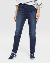 Couchel - Plus Size Navy Blue Faded-effect jeggings - Lyst