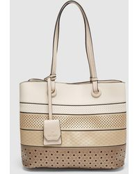 Pepe Moll Small Perforated Hobo Bag In Gold Tones - Multicolour