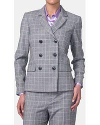 Mirto Prince Of Wales Print Two-button Jacket - Gray
