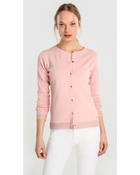 Yera - Pink Cardigan With Openwork On The Sleeves - Lyst