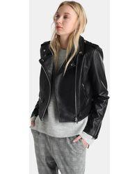 Green Coast - Black Biker Jacket - Lyst