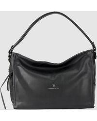 Robert Pietri Black Hobo Bag With Zip