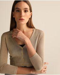 Lauren by Ralph Lauren Wo Short Cardigan With Shine - Metallic