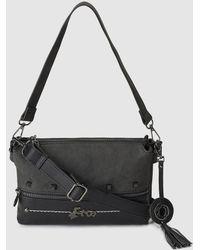 Caminatta - Black Clutch With Medium Detachable Strap - Lyst