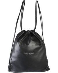 Saint Laurent Teddy Leather Backpack - Black