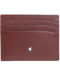 Montblanc - Meisterstück Leather Card Holder - Lyst