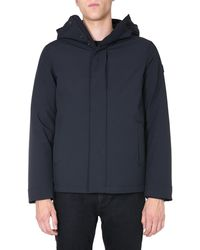 "Woolrich ""stretch Pacific"" Hooded Jacket With Zip - Black"