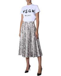 MSGM - Python Print Wheel Skirt - Lyst