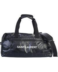 Saint Laurent BORSA DUFFLE NUXX IN NYLON - Nero