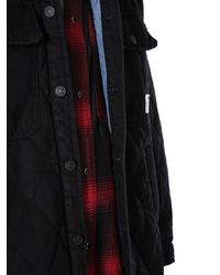 """DIESEL """"d-welles """" Padded Jacket With Removable Shirt - Black"""