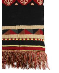 Etro Jacquard Mixed Wool Scarf With Fringes - Multicolour